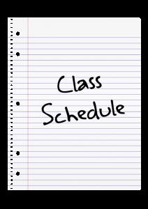 Class Schedule Art